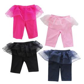 女童紗裙5分內搭褲(粉紅,桃紅,黑,丈青)17S-3001-04