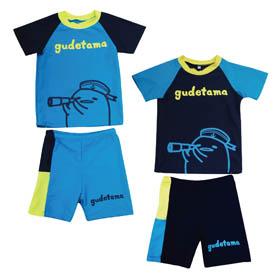 蛋黃哥  兩件式泳裝(天藍,丈青)GU17-G207