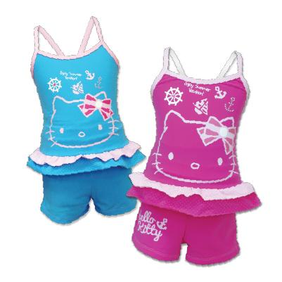 HelloKitty 兩件式泳裝 (水藍、桃紅) KT14-564