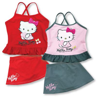 HelloKitty兩件式泳裝 (紅、粉紅) KT2511_售完