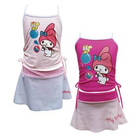 HelloKitty  兩件式泳裝(粉紅,梅紅)MM17-M107