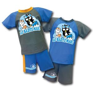 酷企鵝   兩件式泳裝  (灰,藍)  XO15-B003